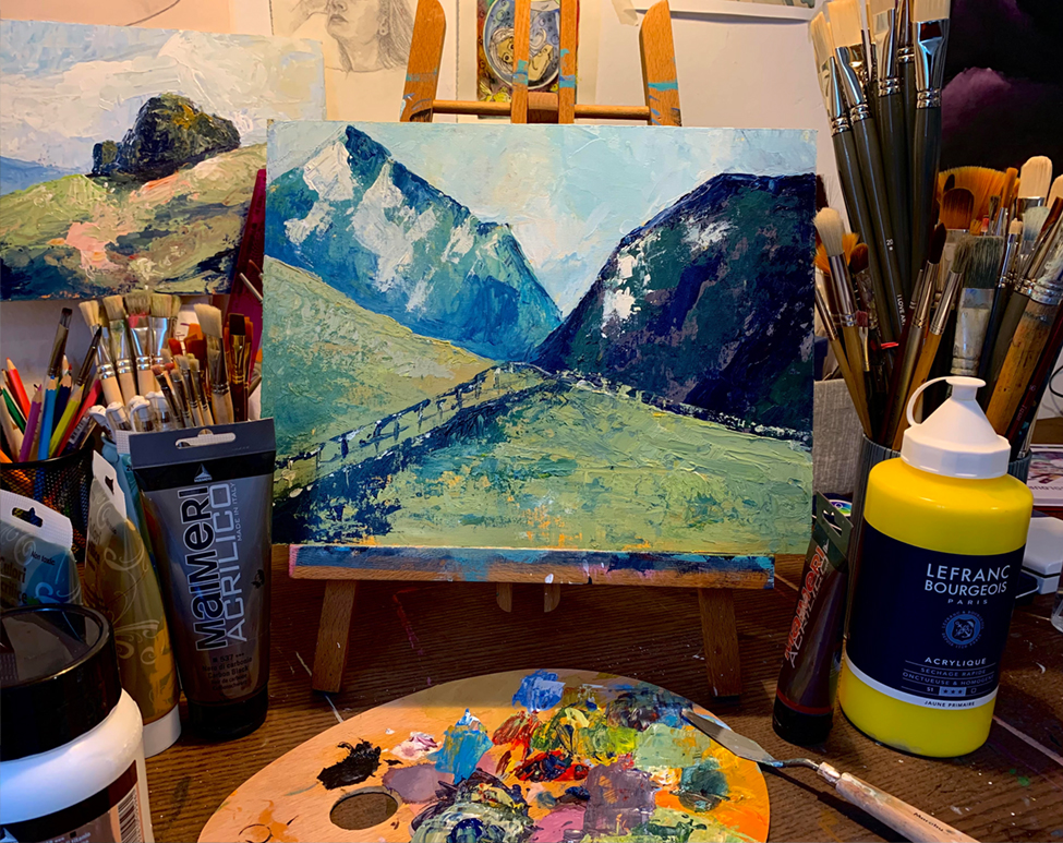 Painting Workshop (Acrylics 20.11.2021, 17:00 - 19:00)
