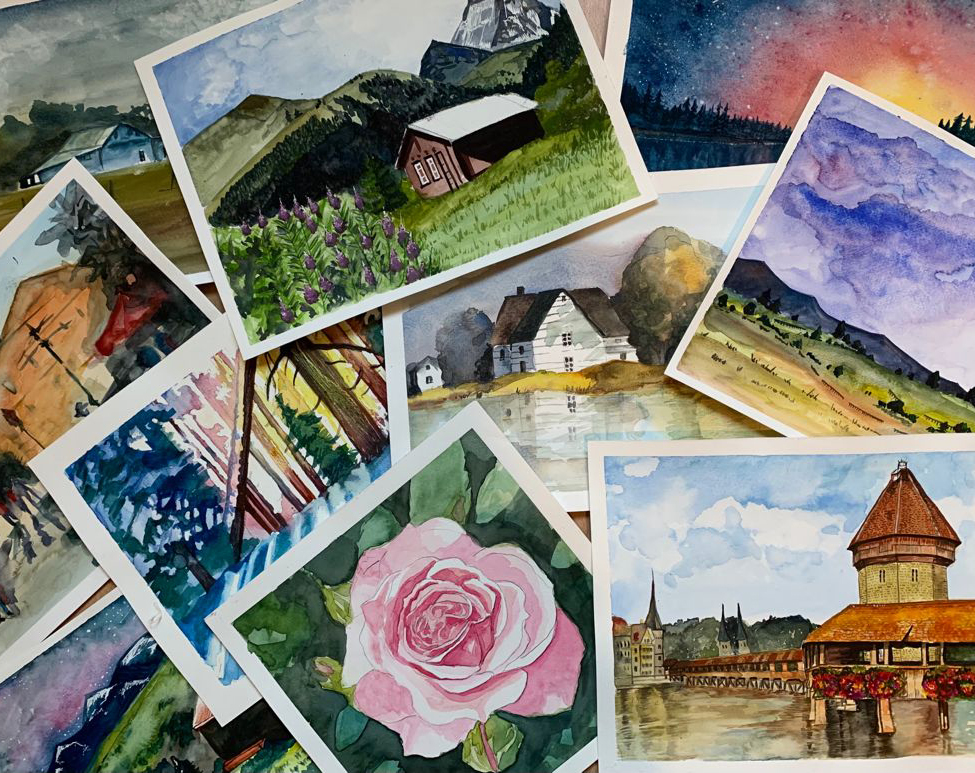Painting Workshop (Watercolours 23.10.2021, 17:00 - 19:00)